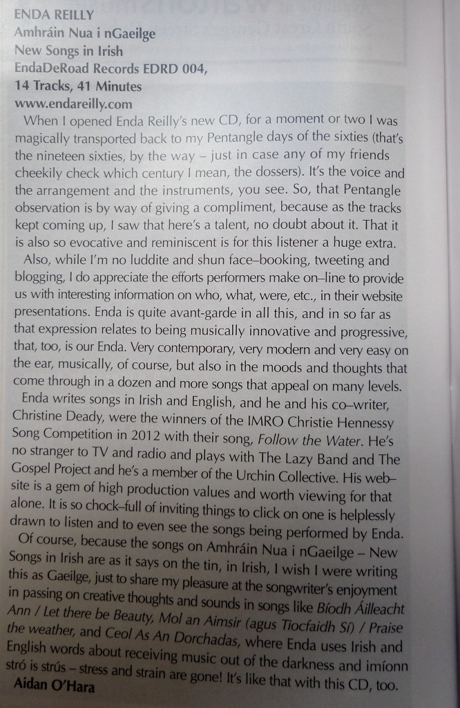 Irish Music magazine Review