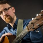 Enda Reilly with guitar by Dave Keegan